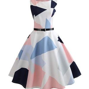 Vintage Inspired Patterned Dress